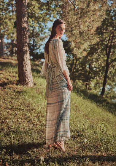 Madame pauline vintage blusa gonna e stola valentino anni settanta