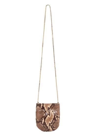 Mini borsa tracolla tl180 pelle stampata color pitone naturale