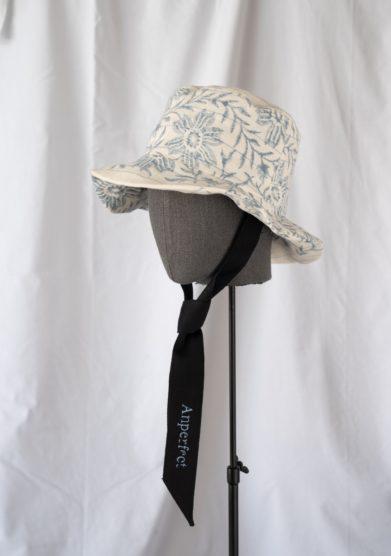 Anperfect cappello pescatore lino floreale con nastri