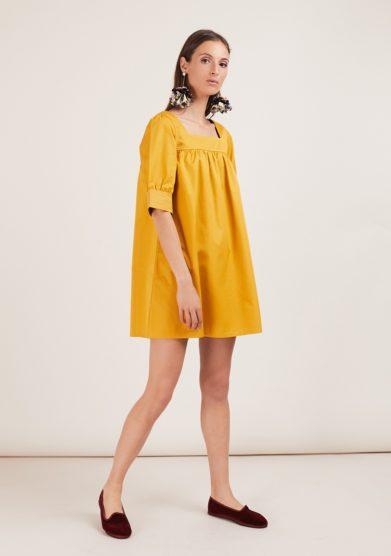 Caftanii firenze mini abito nina giallo