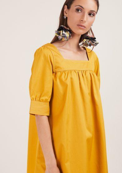mini abito nina giallo Caftanii firenze