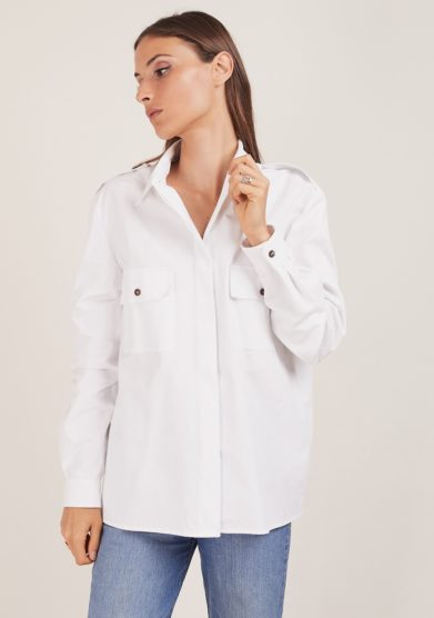 camicia bianca chiara bloom cotone safari