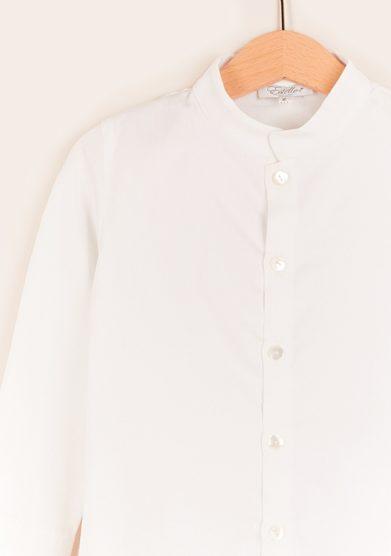 Estelle milano camicia bambino bianca in cotone
