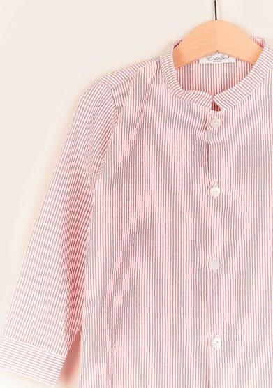 Estelle milano camicia bambino coreana righe rosse
