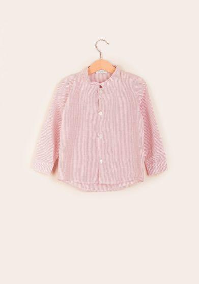 camicia bambino coreana righe rosse estelle milano