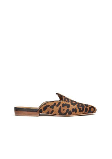 mule Venetian leopardate in pelle effetto cavallino le monde beryl