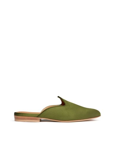 Le monde beryl mule veneziane verde oliva raso