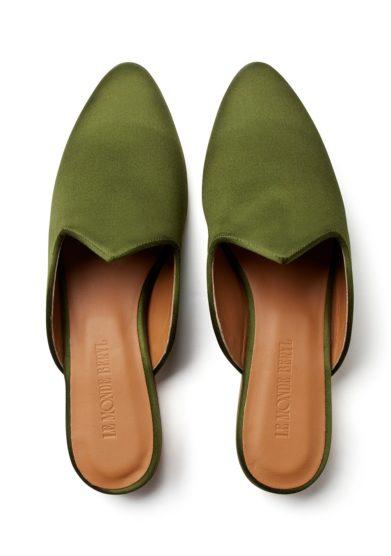 Le monde beryl mule raso verde oliva veneziane