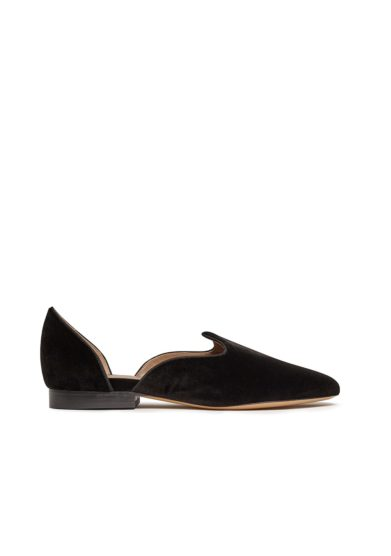 Le monde beryl slippers d'Orsay nera velluto