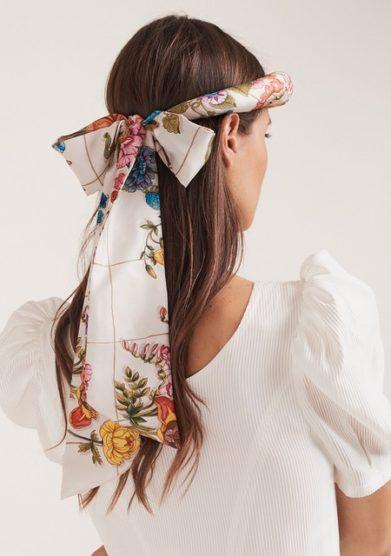 MANTERO 1902 + BLUETIFUL MILANO The Silk Road Tiara indossato cerchietto seta