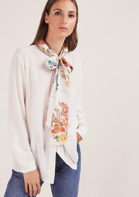 MANTERO 1902 + BLUETIFUL MILANO The Silk Road Tiara cerchietto foulard seta fiocco