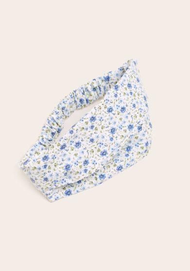 Maghi e maci bandana fascia cotone fantasia fiorellini azzurri