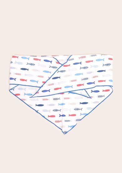 Maghi e maci bandana triangolare stampa pesciolini azzurri