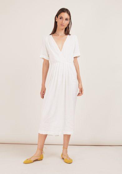 Odette florence abito bianca viscosa bianco