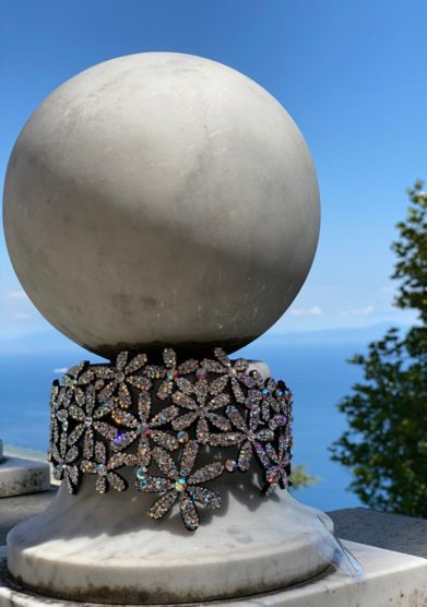 cerchietto cristalli marina fossati palazzo avino