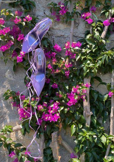 Palazzo avino the attico scarpe sling back venus lilla