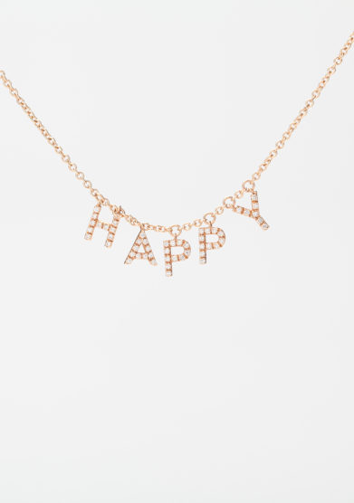 Roberto Callegari collana personalizzata happy oro rosa diamanti