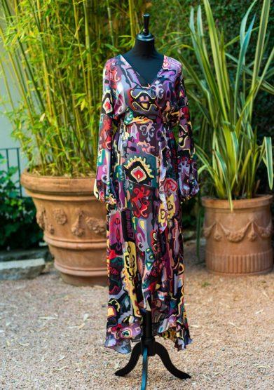 Grand Hotel Tremezzo collezione zilea modello short gown fiore di pesco Como