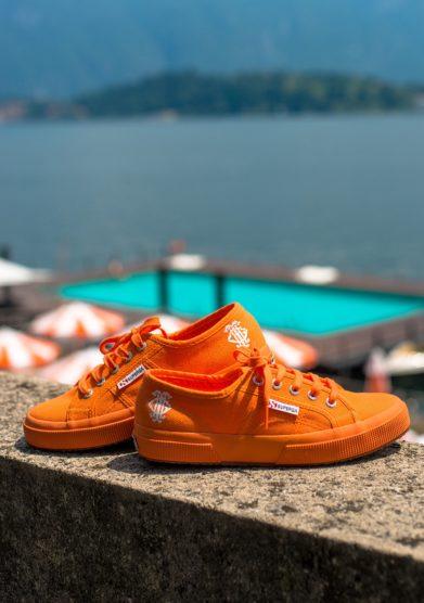 Grand hotel tremezzo Sneakers Superga 2750 edizione limitata GHT arancioni