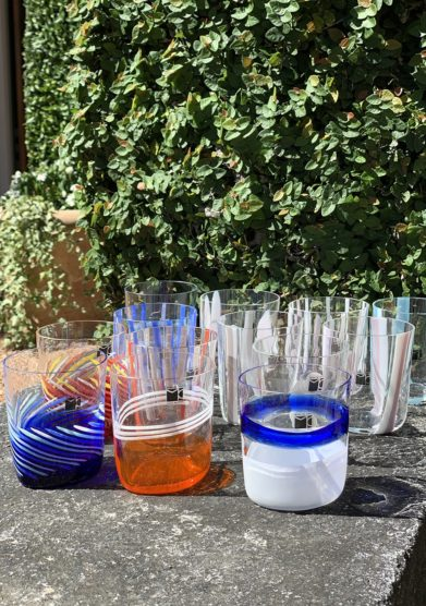 Bicchieri collezione Murano Carlo Moretti modello Bora