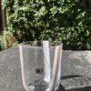 Bicchieri collezione Murano Carlo Moretti modello Bora bianco cipria striati