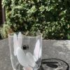 Bicchieri collezione Murano Carlo Moretti modello Bora beige bianco