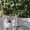 Bicchieri collezione Murano Carlo Moretti modello Bora bianco beige
