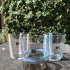 Bicchieri collezione Murano Carlo Moretti modello Bora azzurri