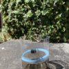 Bicchieri collezione Murano Carlo Moretti modello Bora celeste