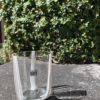 Bicchieri collezione Murano Carlo Moretti modello Bora bianco beige striati