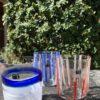 Bicchieri collezione Murano Carlo Moretti modello Bora rigati