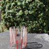 Bicchieri collezione Murano Carlo Moretti modello Bora bianco arancio striati
