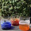 Bicchieri collezione Murano Carlo Moretti modello Bora colori forti