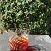 Bicchieri collezione Murano Carlo Moretti modello Bora arancio spirale