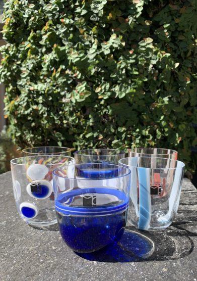 Grand hotel tremezzo Bicchieri Collezione Murano Carlo Moretti modello Diversi