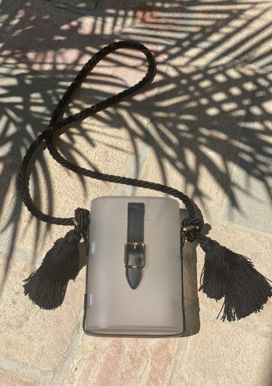 Palazzo Avino ODP borsa mini safari acrilico trasparente nappe