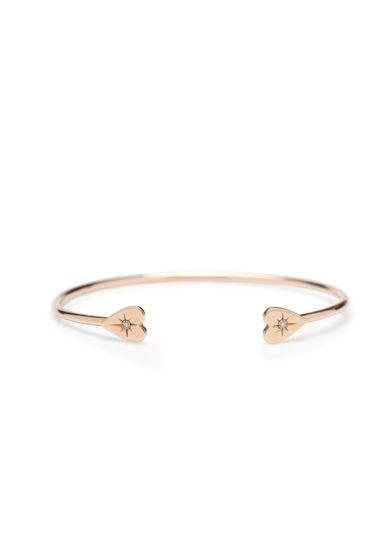 Otto Jewels Bangle diamanti grey chiusura cuori oro