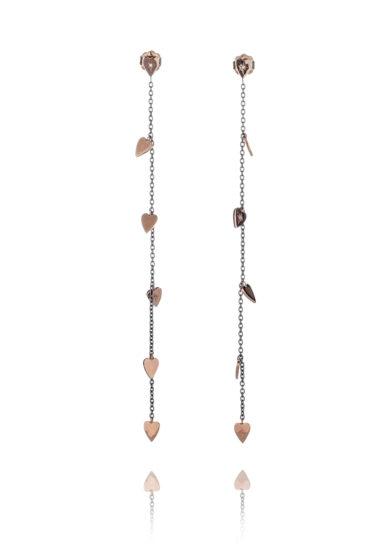 Otto Jewels orecchini pendenti sei cuori