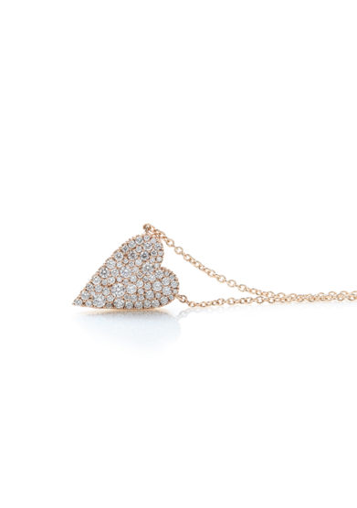 Otto Jewels girocollo cuore oro maxi diamanti