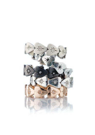 anello Eternity Micro Cuori otto jewels