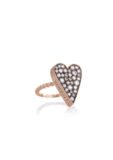 Otto Jewels cuore maxi oro diamanti anello