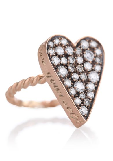Otto jewels anello cuore maxi oro e diamanti