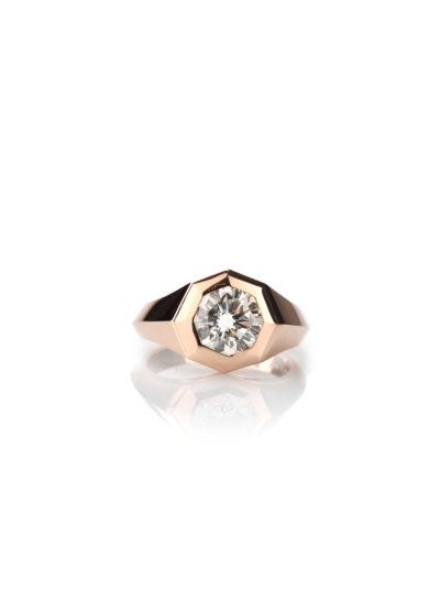 Roberto Callegari anello 110 oro rosa diamanti