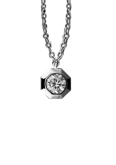 Roberto Callegari collana 110 diamante oro bianco