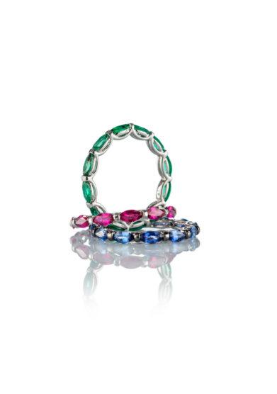 Roberto Callegari fedina Beautiful Smile smeraldi blu rosa verde