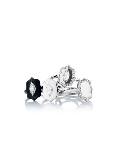 Roberto Callegari anello collezione Shield diamanti oro rosa