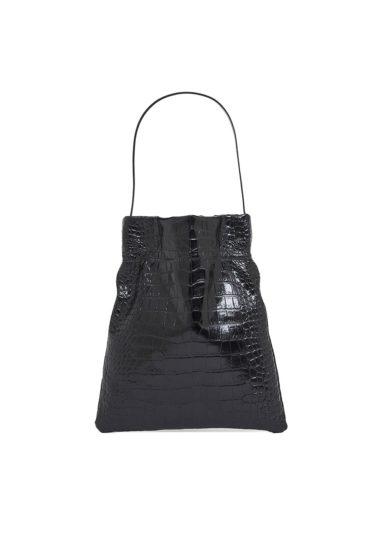 TL180 borsa a mano le fazzoletto large croco black
