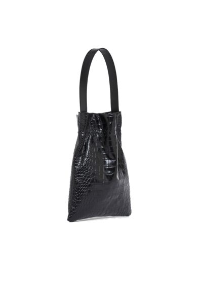 borsa le fazzoletto large croco black tl180