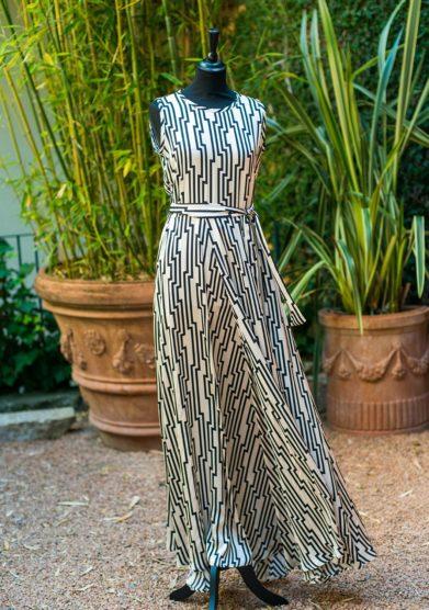 grand hotel tremezzo Abito collezione Zilea modello Long Gown Chrysler