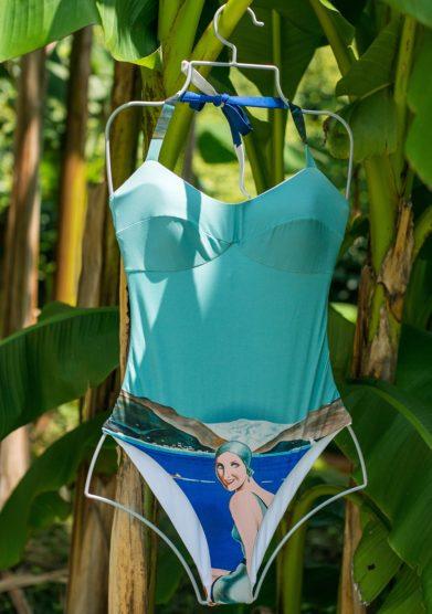 grand hotel tremezzo costume intero Lago di Como modello Lenno Donna Lido